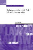 Religion and the Public Order of the European Union Pdf/ePub eBook