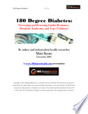 180 Degree Diabetes  Preventing and Reversing Insulin Resistance  Metabolic Syndrome and Type 2 Diabetes Book