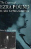 The letters of Ezra Pound to Alice Corbin Henderson