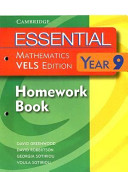 Cover of Essential Mathematics VELS Edition Year 9 Homework Book