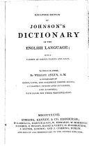 Miniature Edition of Johnson's Dictionary of the English Language, with a Variety of Useful Tables and Lists