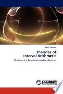 Theories Of Interval Arithmetic Book PDF