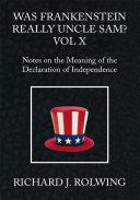 Was Frankenstein Really Uncle Sam? Vol X Pdf/ePub eBook