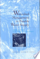 Watershed Management For Potable Water Supply Book PDF