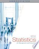 Statistics for Management and Economics  Abbreviated