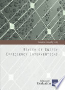 Review of Energy Efficiency Interventions Book