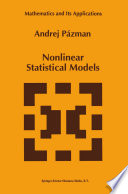 Nonlinear Statistical Models Book PDF