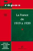 Pdf La France de 1919 à 1939 Telecharger