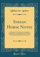 Indian Horse Notes