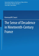 Pdf The Sense of Decadence in Nineteenth-Century France Telecharger