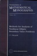 Methods for Analysis of Nonlinear Elliptic Boundary Value Problems