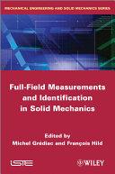 Full-Field Measurements and Identification in Solid Mechanics Pdf