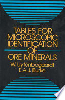Tables for Microscopic Identification of Ore Minerals