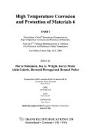High Temperature Corrosion and Protection of Materials 6