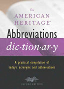 The American Heritage Abbreviations Dictionary