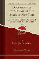 Documents of the Senate of the State of New York  Vol  27