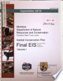 Montana Department of Natural Resources and Conservation  Forested State Trust Lands  Habitat Conservation Plan Book