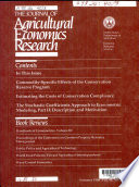 The Journal Of Agricultural Economics Research