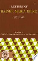 Letters of Rainer Maria Rilke  1892 1910 Book