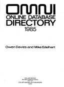 Omni Online Database Directory  1985