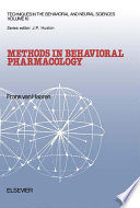 Methods In Behavioral Pharmacology Book PDF