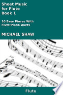 Sheet Music for Flute   Book 1