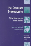 Post-Communist Democratization