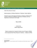 Rationalization of wheat markets in Pakistan  Policy options
