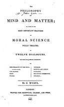 The Philosophy of Mind and Matter