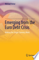 Emerging From The Euro Debt Crisis Book PDF