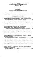 Academy of Management Journal