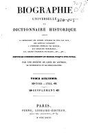 Biographie universelle, ou Dictionnaire historique
