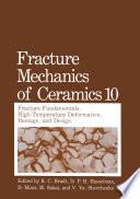 Fracture Mechanics Of Ceramics Book PDF