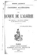 La Banque de l'Algérie