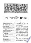 The Law Student s Helper Book