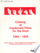 Catalog of Captioned Films for the Deaf