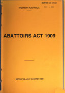 The Reprinted Acts of the Parliament of Western Australia