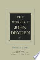 John Dryden Books, John Dryden poetry book