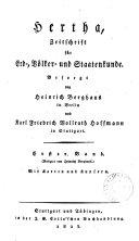 Hertha, zeitschrift für erd-, völker- und staatenkunde