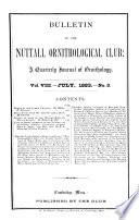 Bulletin of the Nuttall Ornithological Club