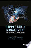 Supply Chain Management for Sustainable Food Networks Book