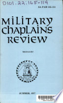 Military Chaplains  Review