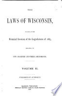 Private And Local Acts Passed By The Legislature Of Wisconsin