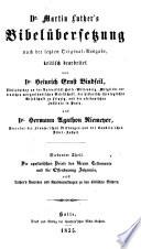 Dr. Martin Luther's Bibelübersetzung
