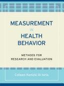 Measurement in Health Behavior