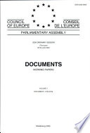 Parliamentary assembly Documents, Working Papers 2000 Ordinary session (Third part), Volume V