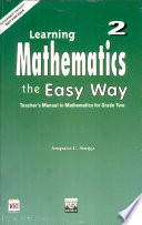 Learning Mathematics the Easy Way 2 Teacher's Manual1st Ed. 1997