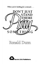 Don t Just Stand There  Pray Something