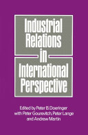 Pdf Industrial Relations in International Perspective Telecharger