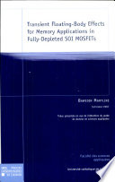 Transient Floating Body Effects for Memory Applications in Fully Depleted SOI MOSFETs Book